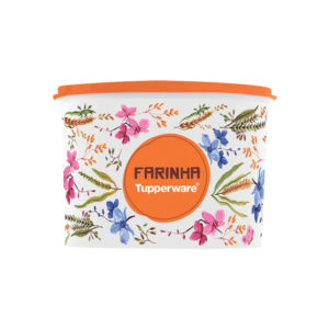 Tupper Caixa Farinha 1.8kg Floral